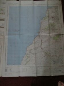Girvan military map 1961 War office and Air Ministry vintage map No.72 vintage