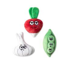 Fringe Studio Veggies Plush Dog Toy - Set of 3 Toys
