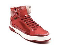 Salvatore Ferragamo Nigel High Top Sneaker Red Size 10.5 New