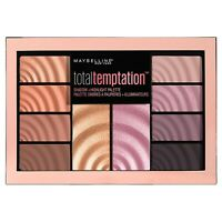 MAYBELLINE Total Temptation Eyeshadow & Highlight Palette 12g - NEW Sealed