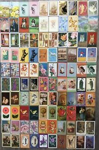 Swap Playing Cards. Vintage BULK LOT 100 Cards ALL PAIRS!