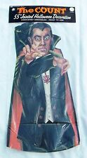 "Vintage 1970's The Count Dracula & Countess 55 "" Halloween Cardboard Decoration"