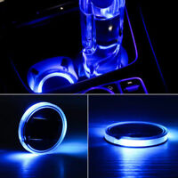 Cool 2X Solar Cup Pad Car Accessories LED Light Cover Interior Decoration Lights