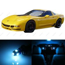 10 x ICE BLUE LED Interior Light Package For 1997 - 2004 Chevy Corvette C5 +TOOL
