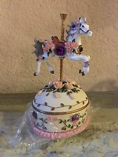 Carousel Horse Music Box Trinket Alexandra Painted Ponies Collection Jewels