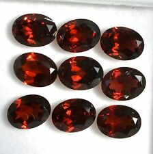 13.14 Cts Natural Garnet Oval Cut 8x6 mm Lot 09 Pcs Red Shade Loose Gemstones