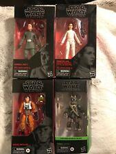 Star Wars Black Series Lot Leia Bespin, Admiral Piet, Wedge Antilles, Teebo Ewok