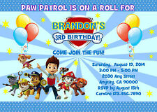PAW PATROL CUSTOM PRINTABLE BIRTHDAY PARTY INVITATION & FREE THANK U CARD