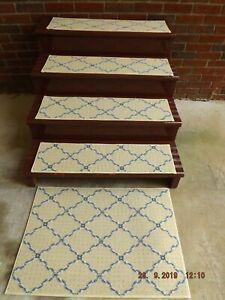 """14- 9""""x 27"""" Indoor Stair Treads 100% Woven Wool Landing 18x27"""