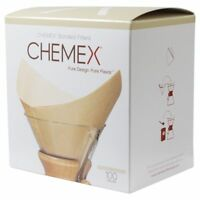 Chemex Filters, Bonded Pre-Folded Squares, Unbleached (FSU-100)