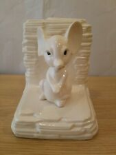 Ceramic Mouse Bookend Ivory