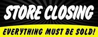 "Store Closing Banner 18""x48"" Free Shipping & Customization, Ready to Hang!"