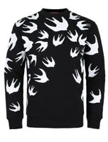 ALEXANDER MCQUEEN GENUINE ALL OVER SWALLOW PRINT SWEATSHIRT BLACK BIRD JUMPER