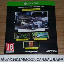 NUOVO CALL OF DUTY infinita GUERRA TERMINALE BONUS Mappa Mimetico & Carte DLC Xbox One