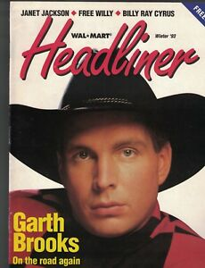 Wal-Mart Headliner Winter 1993 Magazine Garth Brooks Janet Jackson Free Willy
