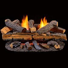 Duluth Forge Ventless Propane Gas Log Set - 30 in. Split Red Oak Manual Control