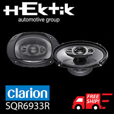 SRQ6933R CLARION 500W MAX. 6″× 9″ Multiaxial 3-Way SPEAKERS [BRAND NEW]