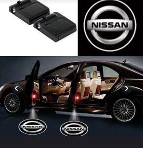 2 Pc Wireless Magnetic Car door Logo Light Shadow  Light Projector For NISSAN