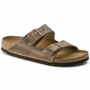 Birkenstock-Arizona -Natural Oiled Leather in Tabacco Brown