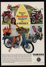 1966 YAMAHA NEWPORT 50 & TWIN JET 100 Motorcycle - THE SWINGING WORLD VINTAGE AD