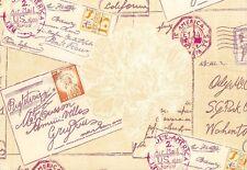 Diario VINTAGE Wallpaper 255149 Rasch Textil CARTAS Beige Magenta