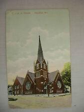 VINTAGE POSTCARD BOOR M. E. CHURCH HANNIBAL MO 1908