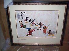 Framed Disney Mickey's Milestones Cel LE 500 Signed Ward Kimball