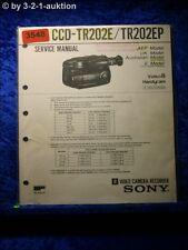 Sony Service Manual CCD TR202E / TR202EP (#3548)