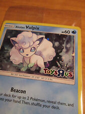 SEALED Pokemon ALOLAN VULPIX Card TOYS R US Promo SM GUARDIANS RISING Set 21/145