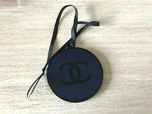 CHANEL VIP GIFT plastic logo charm keychain black and blue NEW 4 cm VIP GIFT