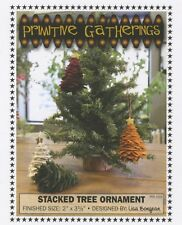 Primitive Gathering wool Stacked Tree Ornament by Lisa Bongean