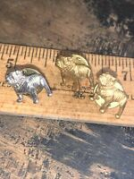 3 Vintage MACK TRUCK Bulldog Dog -Lapel Pins/ Tie Tacs-