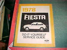 1978 FORD FIESTA  DO IT YOURSELF MANUAL  good USED
