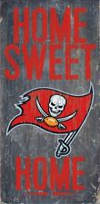 """TAMPA BAY BUCCANEERS HOME SWEET HOME WOOD SIGN and ROPE 12"""" X 6""""  NFL MAN CAVE!"""