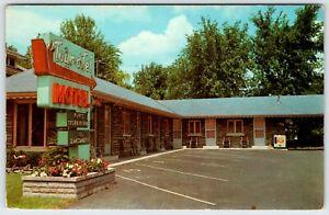Neon Sign Tour-O-Tel Motel Niagara Falls New York Vintage Postcard AF318
