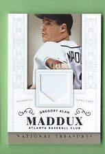 GREG MADDUX 2014 NATIONAL TREASURES GAME USED JERSEY #d 24/25 ONLY 1 ON EBAY