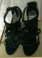 Formal evening sandal heel womens toe tassle brand new boxed unworn black design