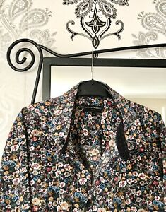 """Taylor And Wright Mens Floral Shirt 16.5"""" Collar Slim Fit, Long Sleeve, Lovely"""