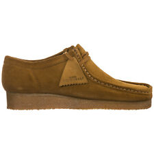 CLARKS MEN'S SHOES SUEDE TRAINERS SNEAKERS NEW WALLABEE BROWN 9AF