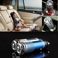 12V Mini Car Fresh Air Ionic Purifier Oxygen Bar Ozone Ionizer Deodorize US