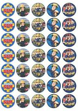 35 x FIREMAN SAM Edible Rice/Wafer paper Cake Cupcake toppers PRECUT