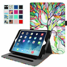 For Apple iPad Mini 5 4 3 2 1 Multiple-Angles Folio Stand Cover Case With Pocket
