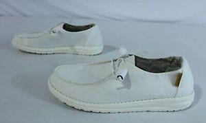 Hey Dude Women's Wendy Chambray Shoe KB8 White 121410123 Size US:9