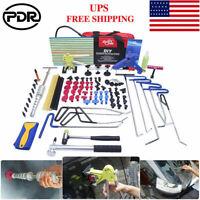 Super PDR Tools Car Body Paintless Dent Repair Kit Slide Hammer Puller Lifter US