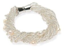 Bracelet With Natural Pearls and Seed Beads with Magnetic Clasp
