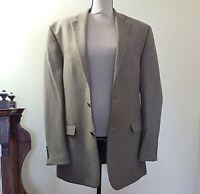 Ralph Lauren Mens 42L Blazer Sport Coat Jacket Cashmere Wool 2 Button Brown EUC