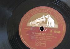 78rpm GEORGE BEVERLY SHEA i`d rather have jesus / tenderly he watches