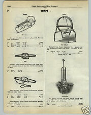 1930 PAPER AD Newhouse Number # 5 Bear Wrought Bolted Frame Double Spring