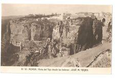 3184.-RONDA -Vista del Tajo desde las laderas: (José Ma. Reyes)(FOTO)