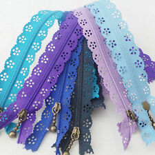 EP_ 10Pcs Lace Zipper Bud Silk Nylon Flower DIY Sewing Tool Decor Hot Magic